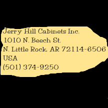 Jerry Hill Cabinets Inc., 1010 N. Beech St., N. Little Rock, AR, USA, (501) 374-9250